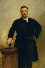 The official White House portrait of President Theodore Roosevelt John Singer Sargent (1856–1925) Oil on canvas, 1903 The White House, Washington, D.C.
