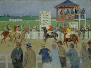 """""""The Race, County Fair,"""" by Gari Melchers, circa 1920s"""