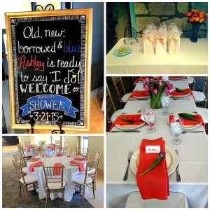 bridal shower collage