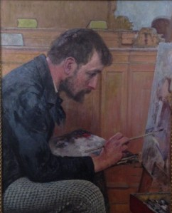 Portrait of an Artist in Profile, by Fritz Strobentz
