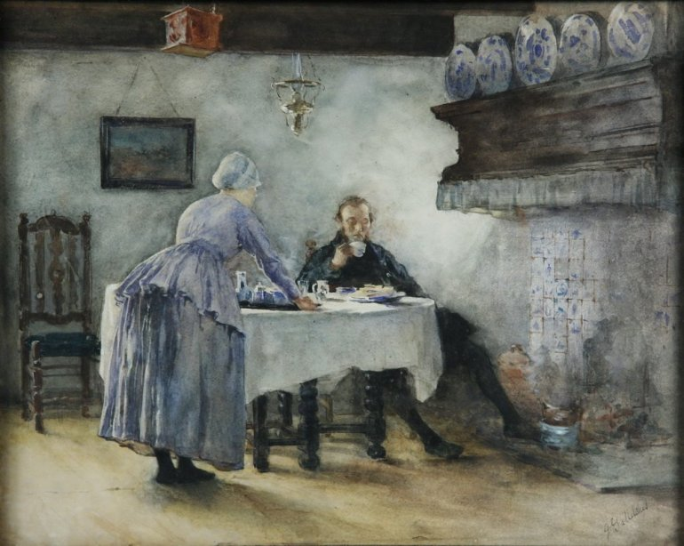 Couple in a Dutch Kitchen