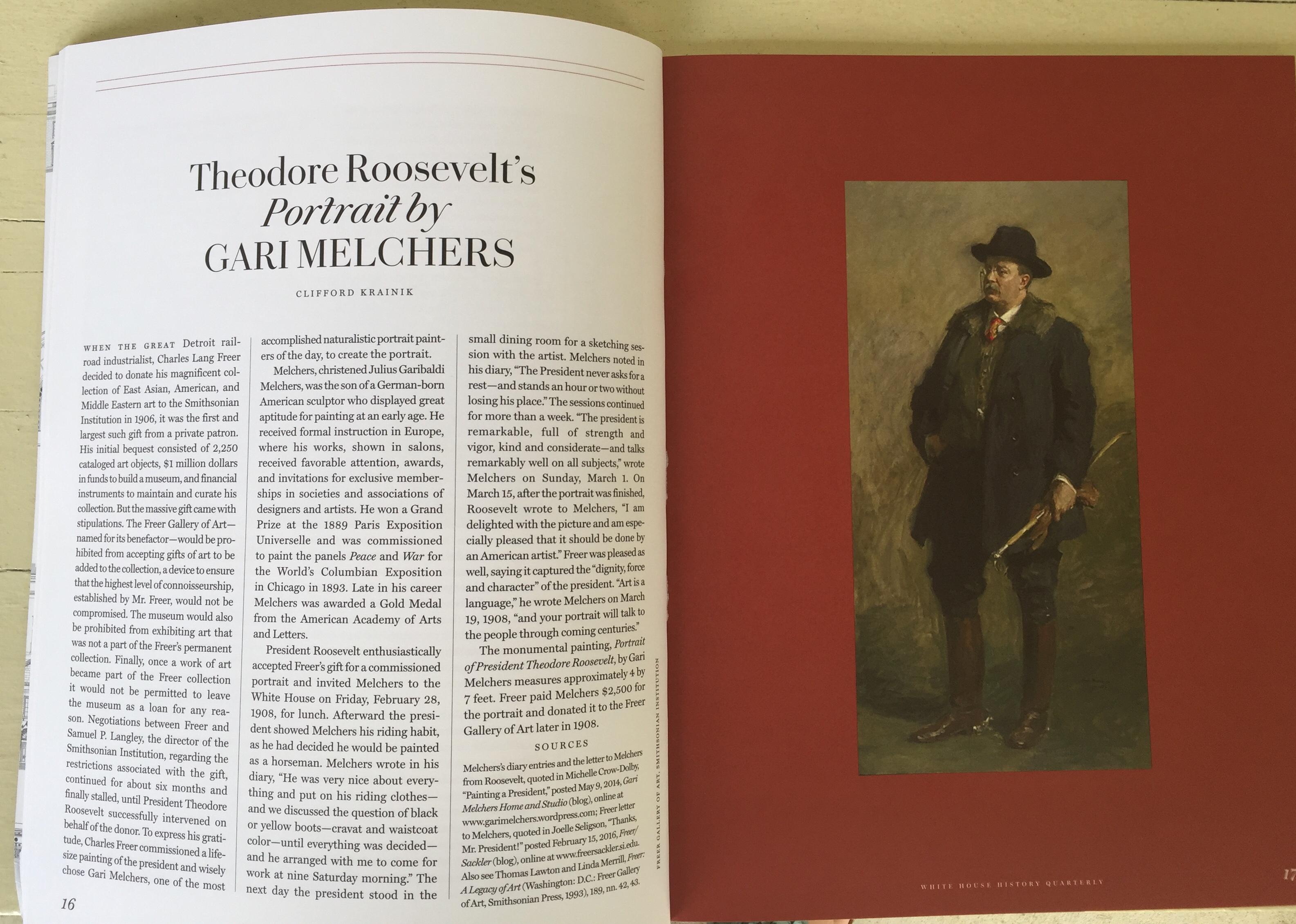 Theodore Roosevelt's Portrait by Gari Melchers